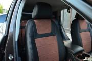 Фото 6 - Чехлы MW Brothers Volkswagen Touareg II Life, TDI (2011-2018), коричневая алькантара + коричневая нить