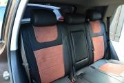 Фото 7 - Чехлы MW Brothers Volkswagen Touareg II Life, TDI (2011-2018), коричневая алькантара + коричневая нить