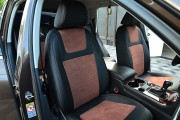 Фото 8 - Чехлы MW Brothers Volkswagen Touareg II Life, TDI (2011-2018), коричневая алькантара + коричневая нить