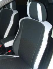 MW Brothers Peugeot 4007 (2007-2012), светлые вставки + серая нить