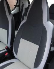 MW Brothers Peugeot 107 (2005-2014), светлые вставки + серая нить