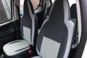 Фото 4 - Чехлы MW Brothers Peugeot 107 (2005-2014), светлые вставки + серая нить