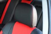 Фото 3 - Чехлы MW Brothers Mitsubishi Lancer X 2L (2007-2011), красные вставки