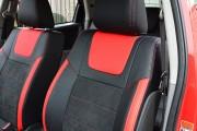 Фото 3 - Чехлы MW Brothers Suzuki SX4 I (2006-2014), красные вставки