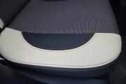 Фото 6 - Чехлы MW Brothers Peugeot 2008 (2013-н.д), бежевые вставки + коричневая нить
