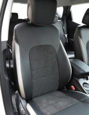 MW Brothers Hyundai Santa Fe III (2012-2018), светлые вставки + серая нить