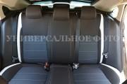 Фото 4 - Чехлы MW Brothers Peugeot 4008 (2012-н.д), светлые вставки + серая нить