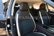 Фото 5 - Чехлы MW Brothers Peugeot 4008 (2012-н.д), светлые вставки + серая нить