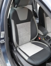 MW Brothers Ford Focus III (рестайлинг) (2014-2018), светлые вставки + светлая алькантара