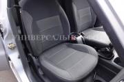 фото 3 - Чехлы MW Brothers Hyundai Accent IV (Solaris) sedan (2011-2017), серая нить