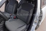 фото 4 - Чехлы MW Brothers Hyundai Accent IV (Solaris) sedan (2011-2017), серая нить