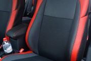 Фото 2 - Чехлы MW Brothers Toyota Auris II (2012-н.д.), красные вставки