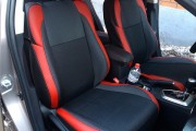 Фото 4 - Чехлы MW Brothers Toyota Auris II (2012-н.д.), красные вставки