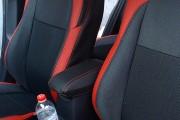 Фото 8 - Чехлы MW Brothers Toyota Auris II (2012-н.д.), красные вставки