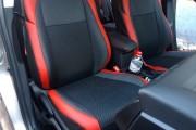 Фото 5 - Чехлы MW Brothers Toyota Auris II Touring Sports (2012-н.д.), красные вставки