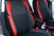 Фото 7 - Чехлы MW Brothers Toyota Auris II Touring Sports (2012-н.д.), красные вставки