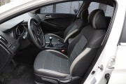 Фото 2 - Чехлы MW Brothers Hyundai Sonata (YF) (2010-2014), светлые вставки