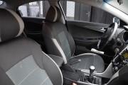 Фото 8 - Чехлы MW Brothers Hyundai Sonata (YF) (2010-2014), светлые вставки