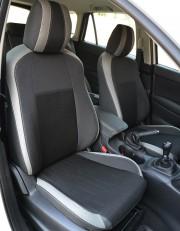 MW Brothers Mazda CX-5 (2015-2017) рестайлинг, светлые вставки + серая нить
