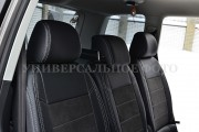 Фото 5 - Чехлы MW Brothers Ford Tourneo Custom (2012-н.д.), серая нить