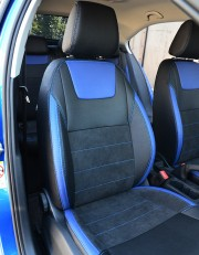 MW Brothers Skoda Octavia A7 Ambition, Elegance (2013-2016), синие вставки