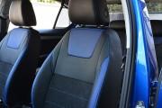 Фото 4 - Чехлы MW Brothers Skoda Octavia A7 Ambition, Elegance (2013-2016), синие вставки