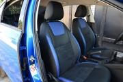 Фото 6 - Чехлы MW Brothers Skoda Octavia A7 Ambition, Elegance (2013-2016), синие вставки