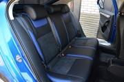 Фото 7 - Чехлы MW Brothers Skoda Octavia A7 Ambition, Elegance (2013-2016), синие вставки