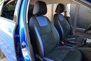 Фото 6 - Чехлы MW Brothers Skoda Octavia A7 FL (Active, Ambition, Style) (2017-н.д.), синие вставки