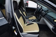 Фото 7 - Чехлы MW Brothers Toyota Camry XV 50/55 (2011-2017), бежевые вставки (Америка)