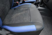 Фото 4 - Чехлы MW Brothers ZAZ Lanos T150 sedan (2004-н.д.), синие вставки
