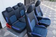 Фото 5 - Чехлы MW Brothers Mazda CX-3 (2015-н.д.), синяя алькантара + синие вставки