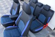 Фото 6 - Чехлы MW Brothers Mazda CX-3 (2015-н.д.), синяя алькантара + синие вставки