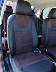 MW Brothers Volkswagen Polo Sedan (2009-н.д.), коричневая алькантара