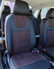MW Brothers Volkswagen Polo V Hatchback (2009-н.д.), коричневая алькантара