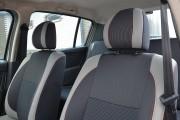 Фото 4 - Чехлы MW Brothers Renault Sandero I (2008-2012), светлые вставки + красная нить