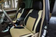 Фото 2 - Чехлы MW Brothers Lexus GX 470 (2003-2009), бежевые вставки