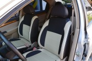 Фото 8 - Чехлы MW Brothers Chevrolet Aveo T200 sedan (2002-2008), бежевые вставки