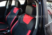 Фото 2 - Чехлы MW Brothers ZAZ Lanos T100 hatchback (2009-н.д.), красные вставки