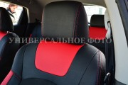 Фото 4 - Чехлы MW Brothers ZAZ Lanos T100 hatchback (2009-н.д.), красные вставки