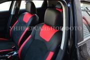 Фото 2 - Чехлы MW Brothers ZAZ Lanos T150 sedan (2004-н.д.), красные вставки