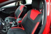 Фото 2 - Чехлы MW Brothers Ford Focus III (рестайлинг) (2014-2018), красные вставки