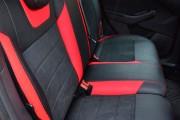 Фото 8 - Чехлы MW Brothers Ford Focus III (рестайлинг) (2014-2018), красные вставки