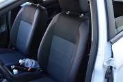 Фото 2 - Чехлы MW Brothers Ford Fiesta Mk7 (2009-2018), темные + красная нить