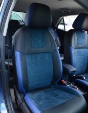 MW Brothers KIA Rio IV hatchback (2017-н.д.), синяя алькантара + синие вставки