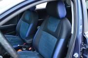 Фото 5 - Чехлы MW Brothers KIA Rio IV hatchback (2017-н.д.), синяя алькантара + синие вставки