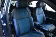 Фото 8 - Чехлы MW Brothers KIA Rio IV hatchback (2017-н.д.), синяя алькантара + синие вставки
