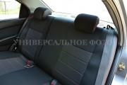 Фото 2 - Чехлы MW Brothers Fiat 500 (2007-н.д.), красная нить