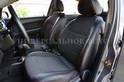 Фото 5 - Чехлы MW Brothers Fiat 500 (2007-н.д.), красная нить