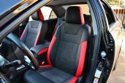 Фото 2 - Чехлы MW Brothers Toyota Camry XV 50/55 (2011-2017), (premium) красные вставки